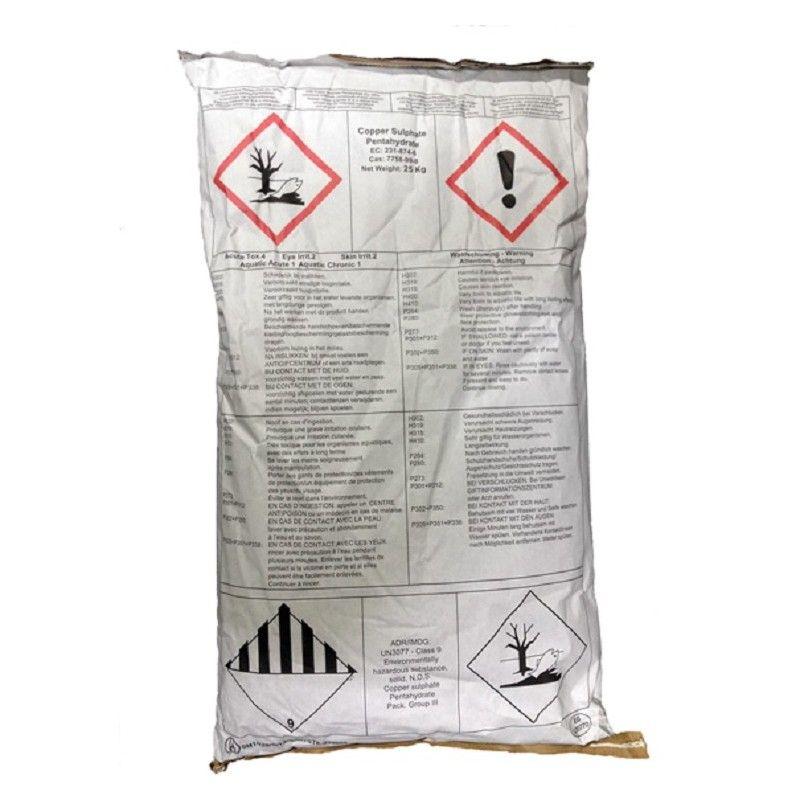 Kopersulfaat Fijn Kristal +AC Feed zak 25 kilo - 1683