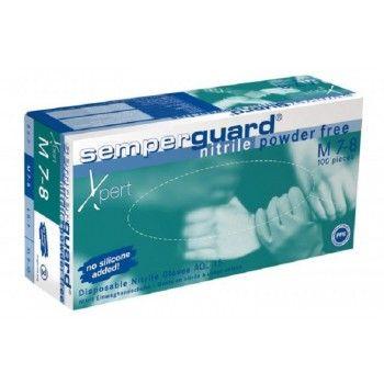 Semperguard Melkershandschoen Blauw nitril poedervrij-1