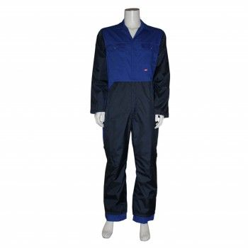 HaVeP Basic Polyester/Katoen Melkersoverall Korenblauw-Marine - 2508