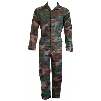 Camouflage Overall Polyester/Katoen met drukknoopsluiting. - 2985