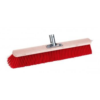 Stalbezem rood met stokversteviger 60 cm - 3086