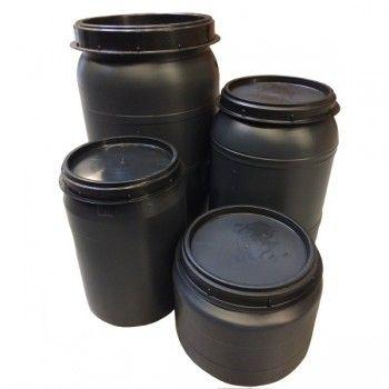 Voerton met schroefdeksel 120 liter - 3840