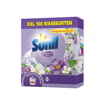 Sunil Professional Wasmiddel Lavendel & Chinese Bloesem 108 wasbeurten - 3854