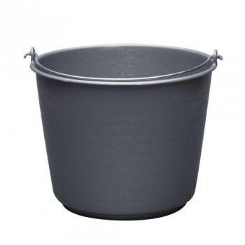Emmer 12 liter Grijs zwaar met 5 mm beugel - 3945