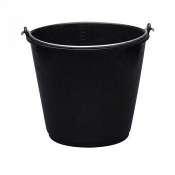 Emmer 20 liter standaard zwart met 7 mm beugel - 3947