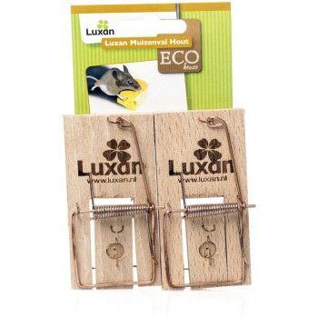 Luxan ECO Muizenval Hout 2 stuks - 4041