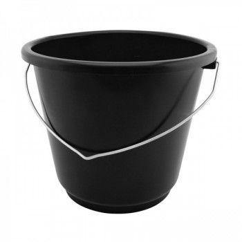 Emmer 10 liter standaard zwart met 5 mm beugel - 4284