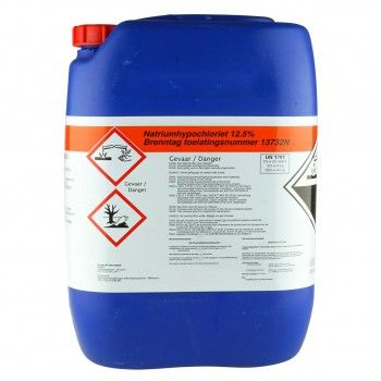 Brenntag Natriumhypochloriet Chloor 12,5% 24 kilo (8 cans of meer) - 4821