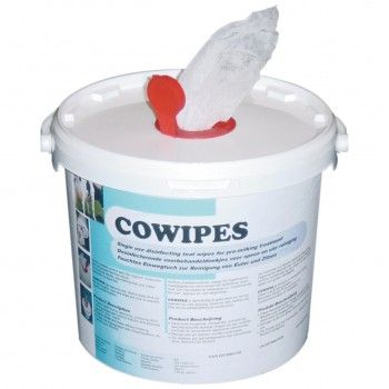Cowipes vochtige uierdoekjes emmer 900 vel - 4949