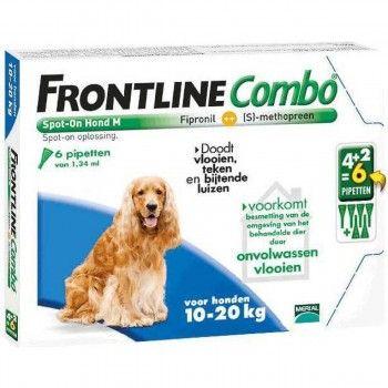 Frontline Combo spot on hond M 10-20 kg 4+2 pipet - 5004