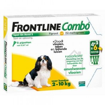 Frontline Combo spot on hond S 2-10 kg 4+2 pipet - 5014