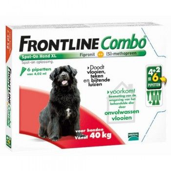 Frontline Combo spot on hond XL 40-60 kg 4+2 pipet - 5026