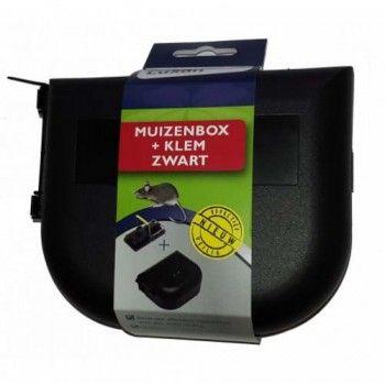 Luxan Muizenbox + Klem Zwart - 5084