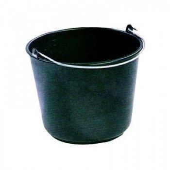 Emmer 12 liter standaard zwart met 6 mm beugel - 538