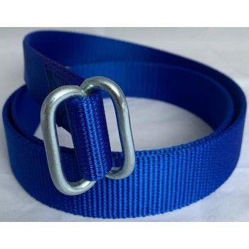 Koehalsband Blauw met zware knelgesp 135 cm - 5601