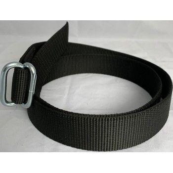 Koehalsband Zwart met zware knelgesp 135 cm - 5608