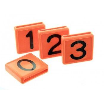Schuifnummer voor Koehalsband Oranje 48 X 46 MM - 5611