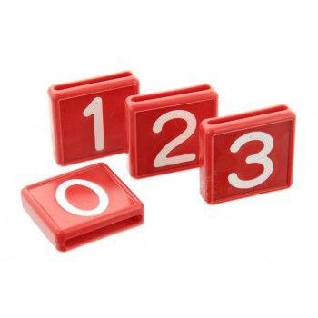 Schuifnummer voor Koehalsband Rood 48 X 46 MM - 5616