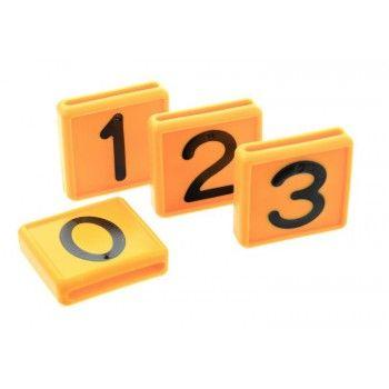 Schuifnummer voor Koehalsband Geel 48 X 46 MM - 5622