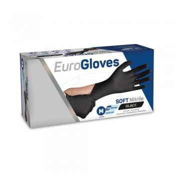 EuroGloves AltairMed Melkershandschoen Zwart Nitril poedervrij - 2468
